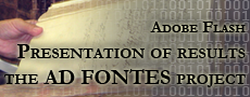 Presentation of results of the Ad fontes project